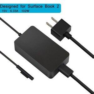 Image 1 - 15V 6,33 A 102W Schalt Netzteil Adapter für Microsoft Oberfläche Buch 2 Laptop 110V 220V AC Ladegerät mit DC 5V 1A USB Ladegerät