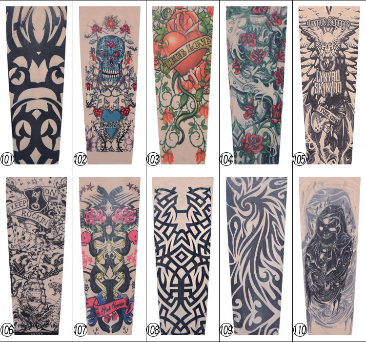 † Мода рукава татуировки рукава теплее унисекс уф-защита на открытом воздухе поддельные рукава рука