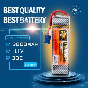 11.1v 3000mah Lipo Battery 3S 30C EC3 XT60 Plug Zop Power Polymer Lithium for Blade 350QX/450 RC Helicoper Drone Bateria(China)