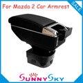 Elevatable y Ninguna Perforación, USB apoyabrazos central Apoyabrazos Para MAZDA 2 M2 HATCHBACK Coche, coche caja de la consola con portavasos cenicero