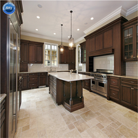 Different Kitchen Style PVC Membrane Lacquer Solid Wood Acrylic Kitchen Caibnet