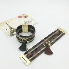 Army Green Tassel Bracelet