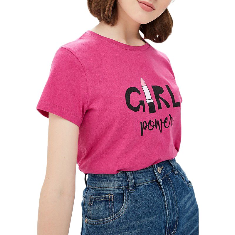 T-Shirts MODIS M182W00165 shirt cotton for for female for woman TmallFS t shirts modis m182w00105 shirt cotton for for female for woman tmallfs