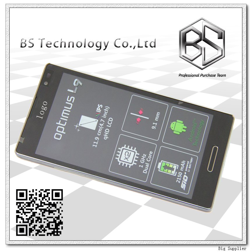 Original Display Screen LCD Digitizer with Frame Complete Assembly For LG Optimus L9 P760 LCD
