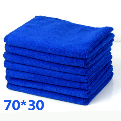 Solid Blue Microfiber Car Wash Towel Soft Cleaning Auto Car Care Detailing Cloths Wash Towel Duste New Hot Sale On Stock