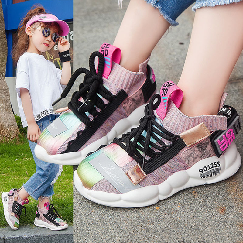 2019 Autumn Kids Sneakers Girls Shoes Boys Fashion Casual Children Shoes For Girl Sport Running Child Breath Comfortable Shoes