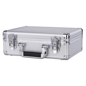 Bien fait en Aluminium durable étui de transport de vol Bronze caméra outil mallette voyage caméra boîte de rangement avec éponge