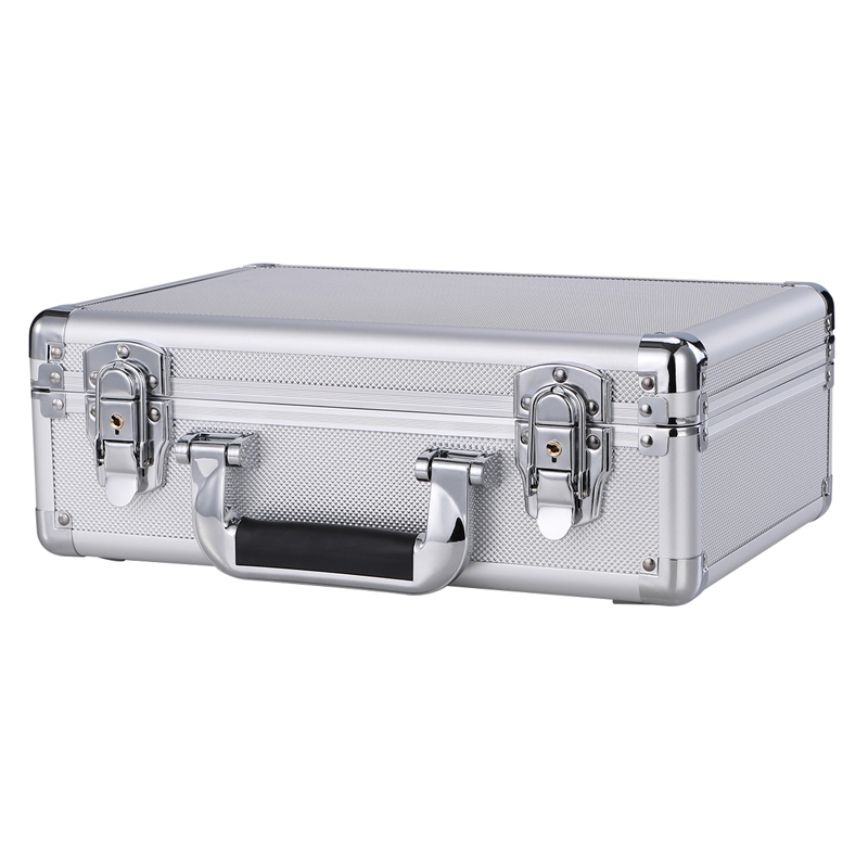 Well Made Durable Aluminium Flight Carry Case Bronze Camera Tool Briefcase Travel Camera Storage Box With Sponge