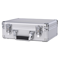 well made durable Aluminium Flight Carry Case Bronze Camera Tool briefcase Travel Camera Storage Box with sponge