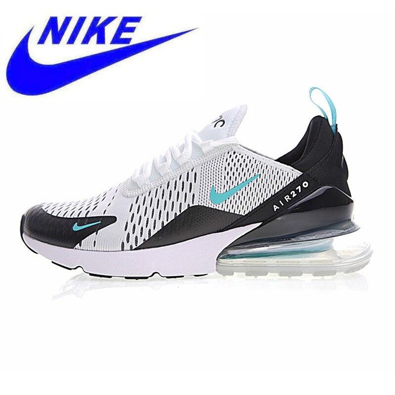 sports shoes 9a3ad 54566 NIKE AIR MAX 270 chaussures de course de coussin d air Hommes, Blanc Bleu,  Choc Absorbant Respirant Léger AH8050 001 AH8050 460 dans Chaussures de  course de ...