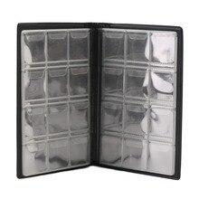 Caja de almacenamiento de volumen de colección de monedas conmemorativa de estilo minimalista, carpeta para monedas vacía, soporte para monedas de 120 piezas, envío directo