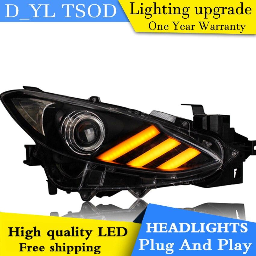 Car Styling Headlights for Mazda 3 Axela LED Headlight for Mazda 3 Head Lamp LED Daytime