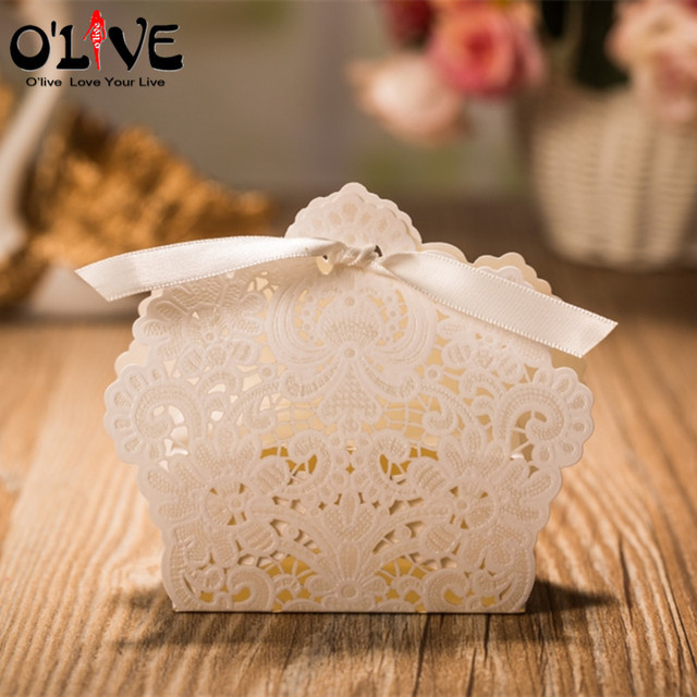 100 Pcs Wedding Candy Bo Vintage Favors And Gifts Box Paper Dragees Marriage