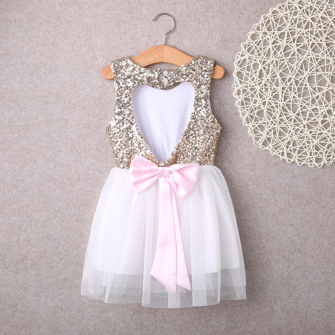 3-10Y Kinder Baby Mädchen Kleid Kleidung Pailletten Party Kleid Mini ...