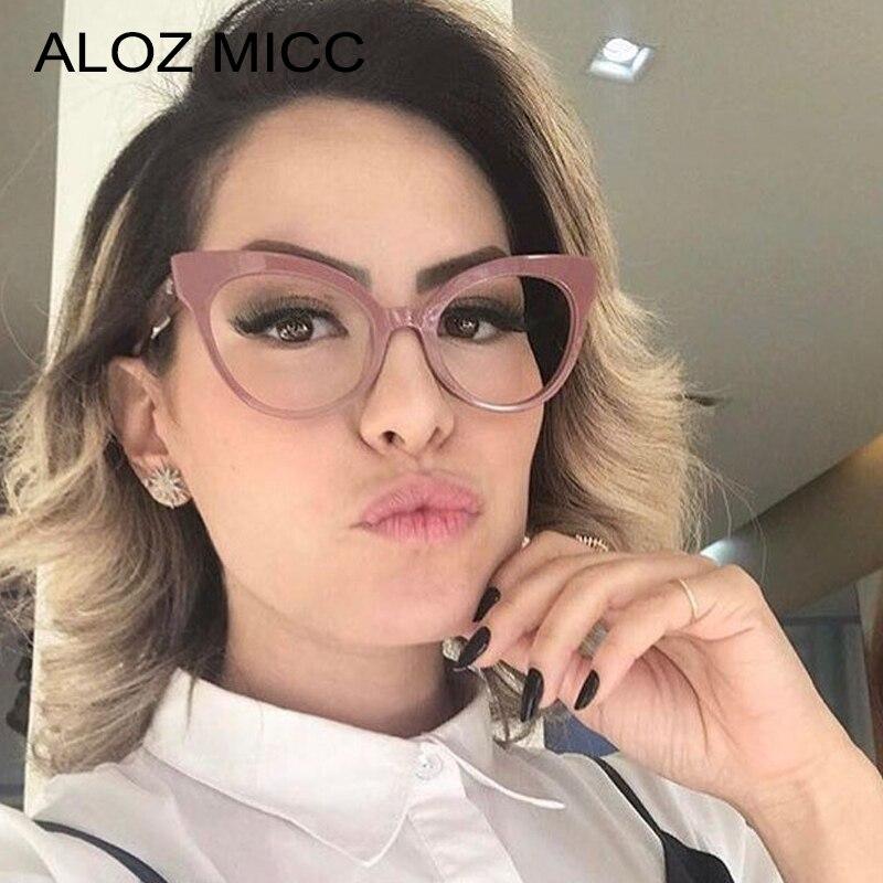 Aloz Micc Retro Klar Brille Rahmen Frauen Hohe Qualität Optische Brillen Marke Deaign Katze Auge Klar Objektiv Gläser Q240 MöChten Sie Einheimische Chinesische Produkte Kaufen?