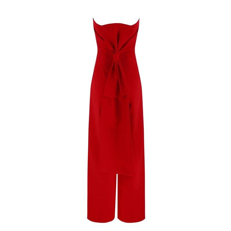 Gros Arc Nu Solide 2018 Mode En Sans Manches Bretelles Sexy Celebrity Rouge Femmes Dos Salopette Arrivée De D'été Nouvelle Clubwear w0z0qxB8H