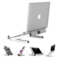 Foldable Laptop Stand Aluminum Adjustable Desktop Tablet Holder Desk Table Mobile Phone Stand For iPad Macbook Pro Air Notebook