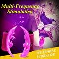 10 Speeds Mute Strapon vibrating clit massager Female Masturbation Orgasm Spray Wearable Vibrators For Women Sex toys 0071
