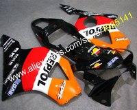 المبيعات الساخنة ، gba لهوندا cbr 900rr 954 0203 954RR cbr900rr 2002-2003 الأحمر البرتقالي أسود أبيض دراجة هدية (حقن)