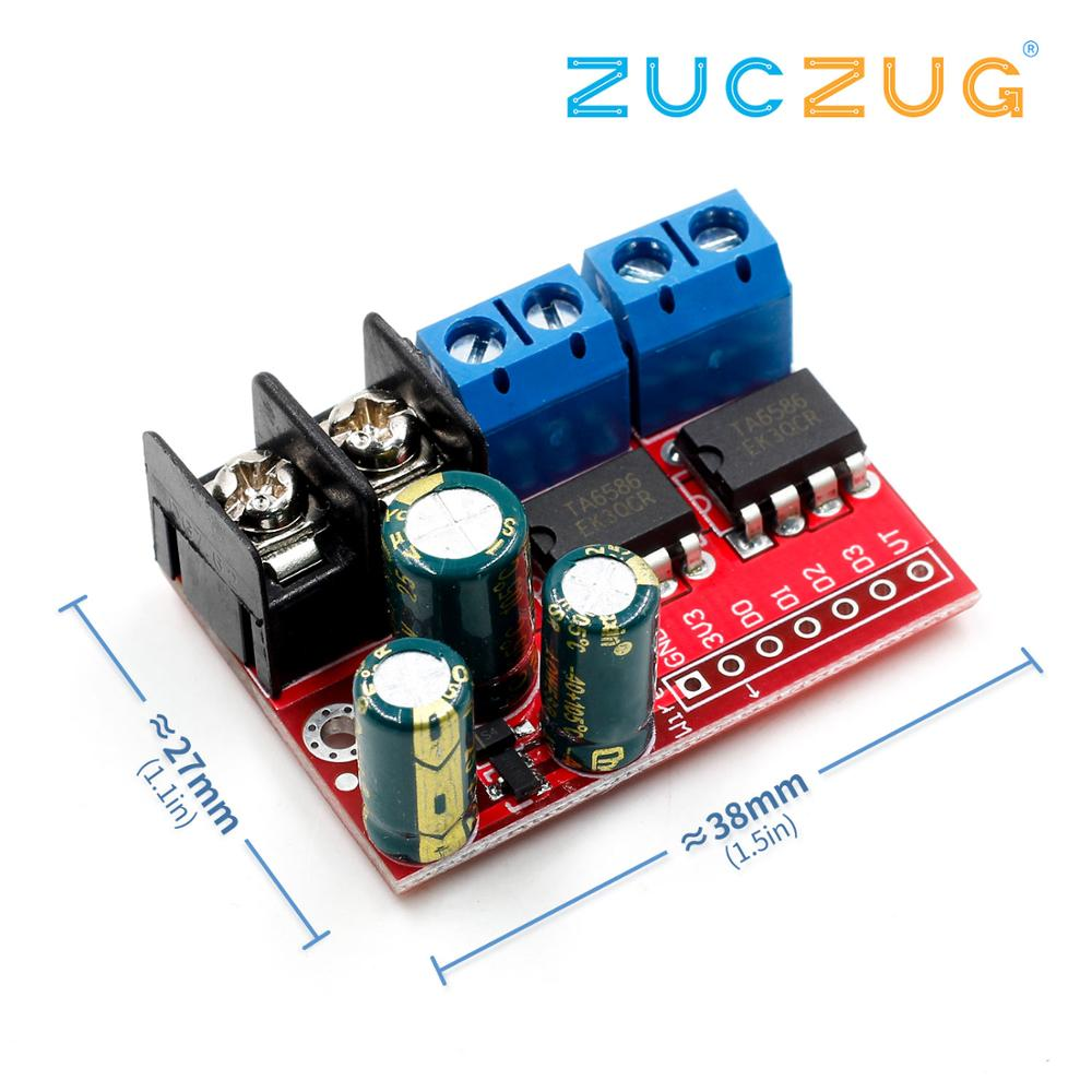 New 5A Dual DC Motor Drive Module Remote Control Voltage 3V-14V Reverse PWM Speed Regulation Double H Bridge Super L298N 5AD