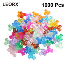 1000pcs Loose Beads Colorful Jewelery Making Beads DIY DIY Accessories Sets Beads Toys for Kids(China)