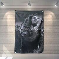 Bob Marley баннер музыкальная рок-группа регги, Ямайка подвесное украшение для дома флаг 4 Gromments в углов 3 * 5FT 144 см * 96 см