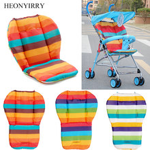 Rainbow Baby Stroller Seat Cushion Pushchair High Chair Pram Car Colorful Soft Carriages Seat Pad Child Stroller Mat Accessories(China)