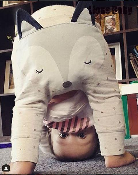 3d Design Fox Ear Toddler Infant Baby Boys Girls Clothes Cute Pp Harem Pants Newborn Cotton Trousers Legging Photo Prop Costume