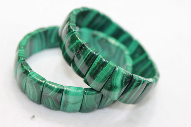 Level 5a Natural South African Green Malachite Bracelet Jewelry 10
