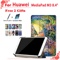 M3 de alta calidad cubierta de la caja del caso para huawei mediapad para huawei mediapad m3 btv-w09 btv-dl09 8.4 pulgadas tablet + free 2 regalos