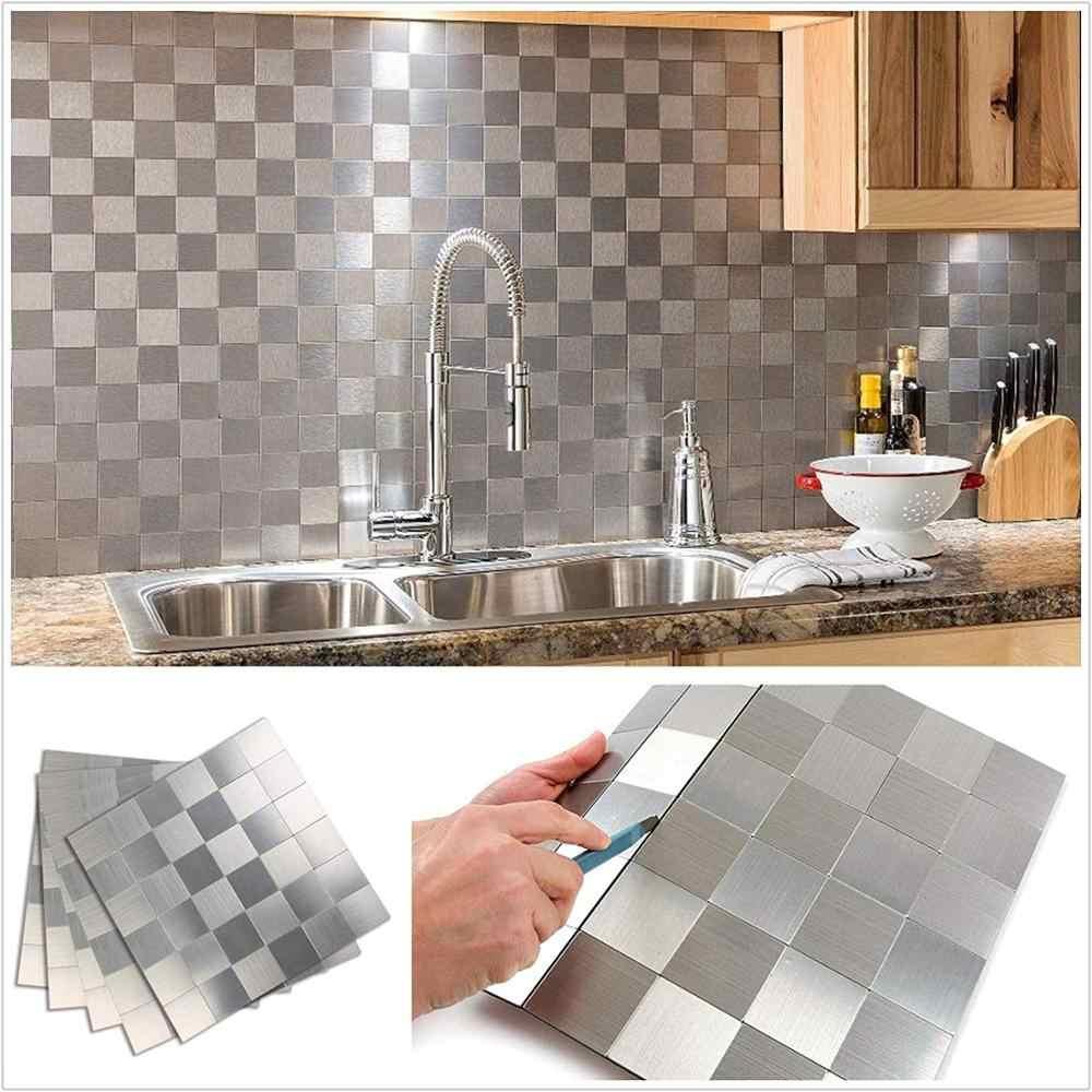 סיטונאי 4PCS נורדי מטבח קיר מדבקות בית תפאורה סלון באיכות גבוהה קיר קליפה מטבח backsplash