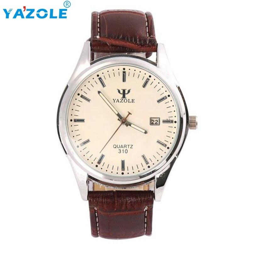YAZOLE Wrist Watch Men 2017 Top Luxury Famous Wristwatch Male Clock Quartz Watch Hodinky Quartz Watch Relogio Masculino #A71