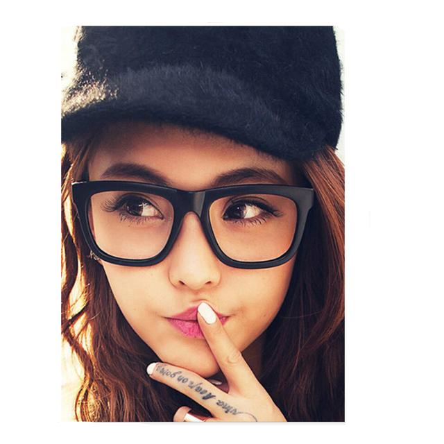 Quadrado Transparente Óculos de Armação Homens Mulheres Retro Óculos Armações De Metal Óculos de Prescrição Miopia Pontos Grau Lente Óptica