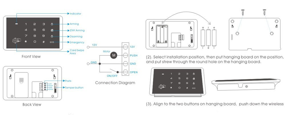 KERUI New K16 RFID Touch Keypad For Wireless PSTN GSM
