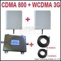 Новый двухдиапазонный повторитель CDMA 800 МГц Booster + 3 Г WCDMA Ретранслятор dual band booster комплекты ж/кабель и антенн, двухдиапазонный GSM усилитель