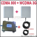 new dual band repeater CDMA 800Mhz Booster+3G WCDMA Repeater dual band  booster kits w/ cable &antennas,dual band GSM booster