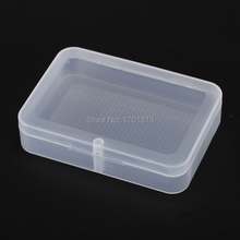 2pcs Transparent plastic cards container PP storage case packing material