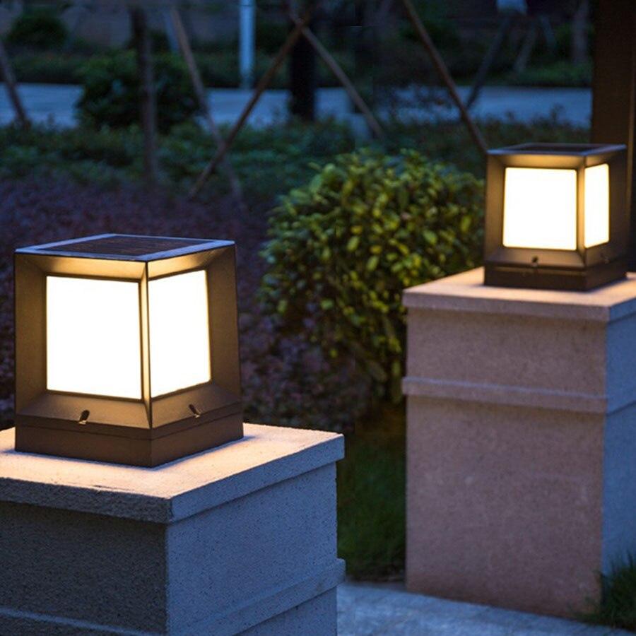 Thrisdar extérieur solaire pilier lampe étanche porte clôture pont paysage pelouse lumière Villar jardin porte avant porte stigmatisation lampes