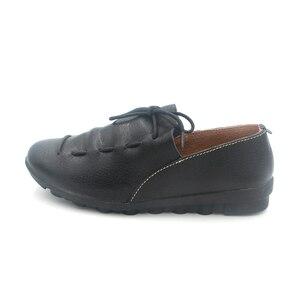 Image 3 - BEYARNE חדש אופנה עור מוקסינים נשי נוח יולדות שטוח נעלי העקב אחת נעליים יומיומיות משלוח Drop חינם