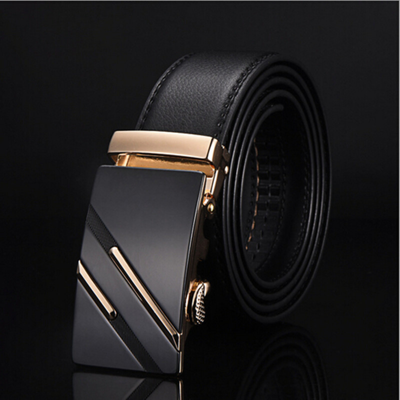 2017 Designer Leather Strap Male   Belt   Automatic Buckle   Belts   For Men Girdle Wide Men   Belt   Waistband ceinture cinto masculino