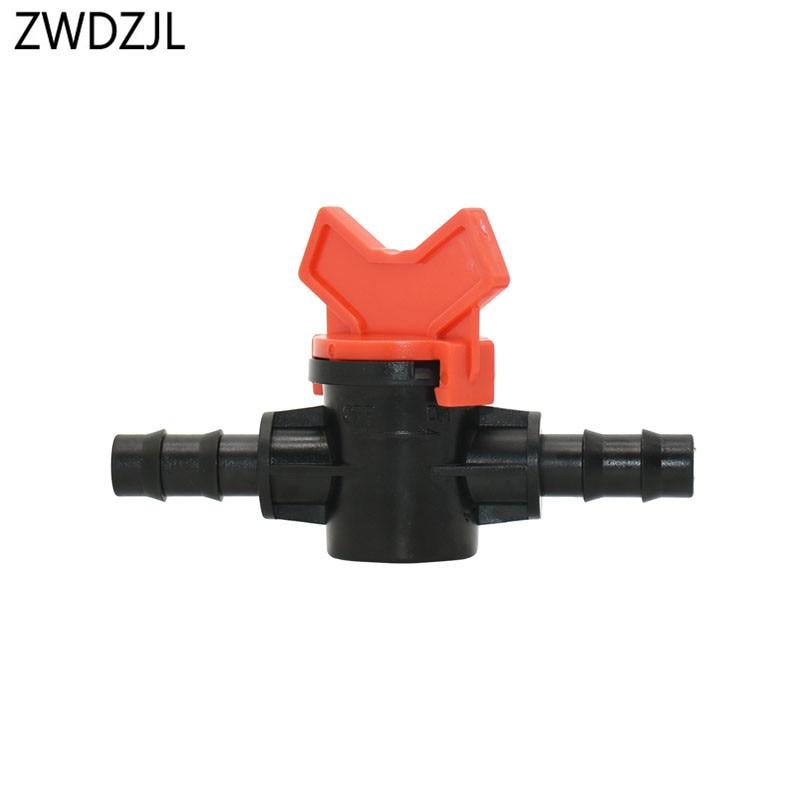 3/8 Inch Garden Tap 9/12 Irrigation Water Valve 10mm Mini Valve Waterstop Connectors Barb Drip Adapter 1pcs