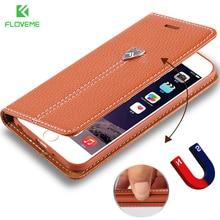 Floveme Роскошный кожаный чехол для Apple iPhone 6 6 S Plus 7 Plus чехол бумажник СТЕНД слот для карт памяти телефона чехол для Iphone 7 6 Plus Coque