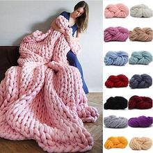 HOT SALE! 250g Fashion Super Bulky DIY Hand Knitting Blanket Hats Warm Giant Thick Yarn