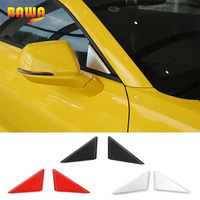 HANGUP 3 Color ABS Car Exterior A pillar Panel Cover Sheet Window Triangle Sticker For Chevrolet Camaro 2017 Up Car Styling