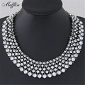 Maxi Collier Fashion Statement Necklaces & Pendants Vintage Layered Crystal Necklace Kolye Jewelry Gold/silver Colar Bijoux