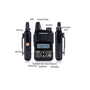 Image 2 - 2 قطعة Baofeng Mini T1 UHF راديو BF T1 اتجاهين راديو هام جهاز الإرسال والاستقبال اللاسلكي FM CB راديو لمطعم فندق الحلاق
