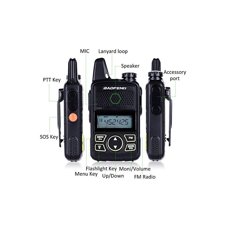 Image 2 - 2PCS Baofeng Mini T1 UHF Radio BF T1 Two Way Radio Ham Radio Transceiver FM CB Radio For Hotel Restaurant Barber-in Walkie Talkie from Cellphones & Telecommunications