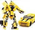 Nueva Original de la Película Robot Transformación Bumblebee Building Blocks 2 En 1 Autobot Diy juguetes de los Ladrillos Compatible con Legoe