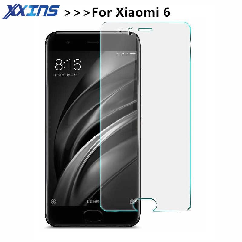 2.5d 0.26ミリメートル9 9hプレミアム強化ガラスのためxiaomi 6スクリーンプロテクター高靭保護フィルム用xiaomi6 mi6ガラス*クリーンキット