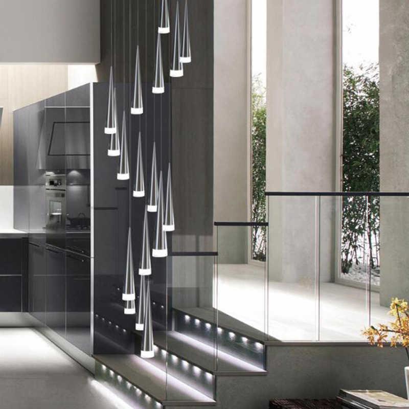 Lampu LED Moderen Liontin Aluminium Conical Rumah Logam Industri Lampu Liontin Lampu Droplight Ruang Tamu Ruang Makan Lampu